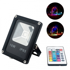 RGB LED Floodlight AC85-265v 10W COB LEDs Waterproof Spotlight for Garden Landscape Park Lighting