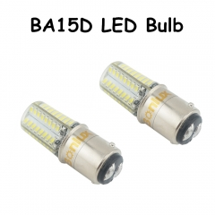 1157 BA15D LED 12V Car Light 3 Watts Silicone Coated Auto LED Car Bulb 10-18V 3014SMD Tail Turn Signal Car Light Lamp-Pack of 2