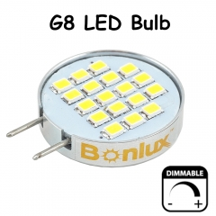 Dimmable LED G8 Bulb Light 3.5 Watts 180 Degree Beam Angle G8 Cabinet Light with 30 Watts Halogen Replacement-Pack of 4