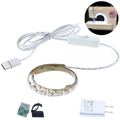 "Sewing Machine LED Strip Light Kit, 24.5"" 5V Flexible USB Sewing Light, Machine Working LED Lights - Fits All Sewing Machines"