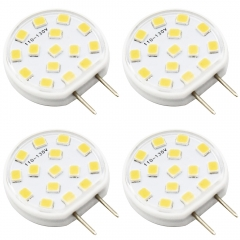 Dimmable 2.5W G8 LED Bulb 120V G8 Bi-pin LED Light Bulb 20W Incandescent Replacement for Under Counter Kitchen Lighting Desk Lamps Pendant Lighting