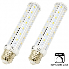15W LED 3-Way Corn Bulb Dimmable T10 Tubular LED Light, 100/50/25W Incandescent Equivalent, Medium Screw E26 Base for Table Reading Lamp (Pack of 2)