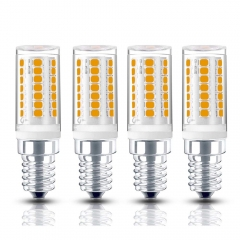 4W Dimmable E12 LED Candelabra Chandelier Bulb 120V T3/T4 E12 Candelabra Base 35W Halogen Replacement Bulb for Ceiling Fan, No Flicker (4-Pack)