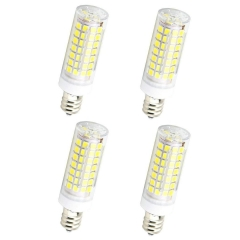 7W Dimmable E12 LED Mini Candelabra Bulb T3/T4 Candelabra Base Omni-Directional LED 50W Halogen Replacement Bulb ( 4-Pack)