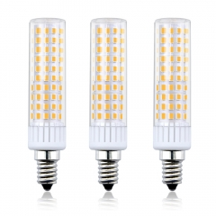 Bonlux Dimmable 8.5W E14 LED Light Bulb, T3/T4 Candelabra Base E14 Ceiling Light 100W Halogen Replacement Candle Corn Bulb, 3-Pack